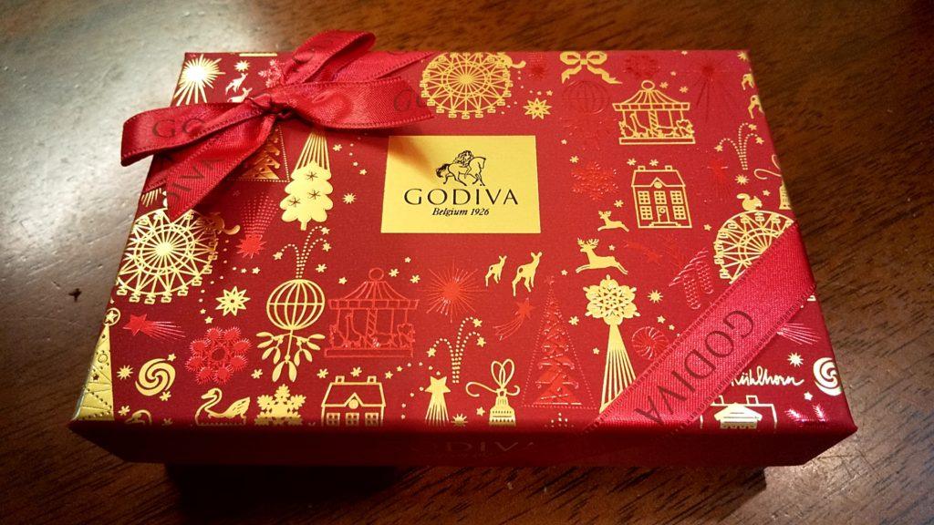 ラッピングされたGodivaのチョコレート